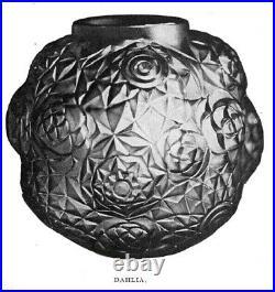 A Hunebelle & R Cogneville Vase Dahlia Art Deco Lalique Era 1925