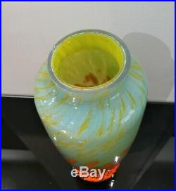 Ancien Vase Art Deco 1930 Signe Schneider