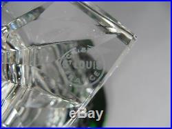 Ancien Vase Médicis En Cristal Vert De Saint Louis Modèle Versailles