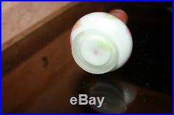 Ancien petit vase ARSALL pate de verre camé acide décor Marronnier signé BW 1920
