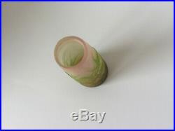Ancien petit vase vase Gallé aux chardons authentique