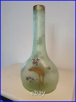 Ancien superbe Vase François-Theodore Legras Montjoye signé
