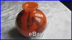 Ancien vase boule Muller Frères Luneville circa 1930 époque Daum Gallé