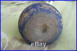 Ancien vase soliflore berluze en pate de verre marbré violet Delatte XXe