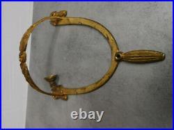 Ancienne Applique Luminaire En Bronze Et Pate De Verre Muller Freres Luneville