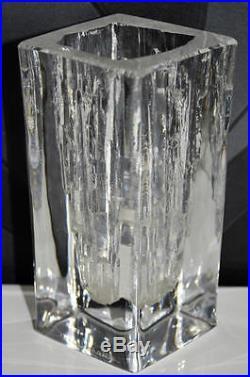 Ancienne BLOC Vase cristal DAUME FRANCE S. C. R. E. G. SIGNE 1,4kg