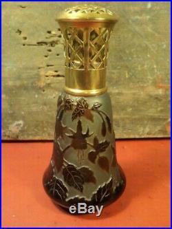 Ancienne Lampe Berger D'Argental Décor Fuchsia Art Nouveau