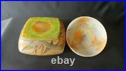 Art nouveau pate de verre bonbonnière daum nancy