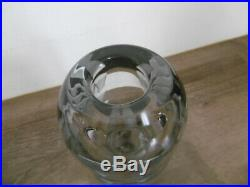 Authentique rare vase en verre art déco signé Jean Luce