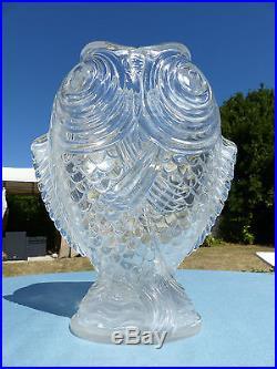baccarat rare grand vase cristal aux 2 carpes expo universelle de paris 1878. Black Bedroom Furniture Sets. Home Design Ideas