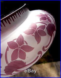 Belle grosse coupe 1900 gravée cristallerie de PANTIN, era daum galle devez, NO