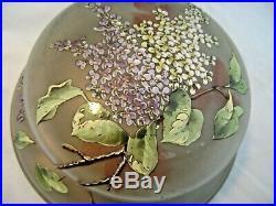 Bonbonnière En Pâte De Verre émaillé De Legras, monture en laiton
