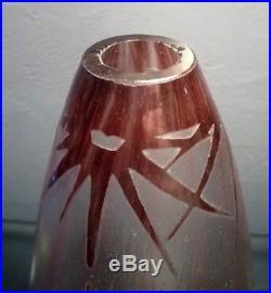 Charles SCHNEIDER Charder le verre français-vase étoile 1918-1921-daum, gallé