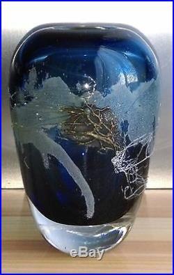 Charmant Vase En Cristal Contemporain Artiste À Identifier Signé