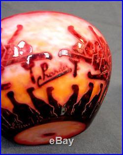 Charmante coupe Schneider le verre francais, rodhodendrons era daum galle vase