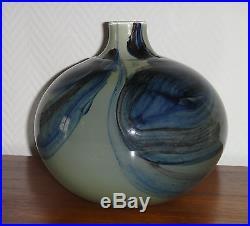 Claude Monod important vase boule verre soufflé 1978 diamètre 22 cm