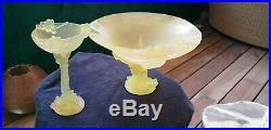 Coupelle mimosas art déco daum france en pate de verre