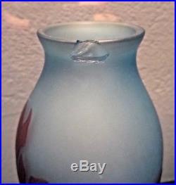 D'ARGENTAL SAINT-LOUIS-Vase art nouveau dégagé à l'acide-daum-gallé-schneider
