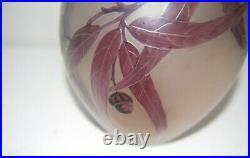 D Argyl. Vase Multicouche Degage A L Acide. Decor Fuschia. Ecole Legras