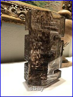 DAUM & CESAR BALDACCINI. Vase ARGOS Grand Modèle Signé Art Brutaliste
