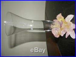 DAUM France Vase Rose Soliflore Original Box REF 01964 en boite état neuf