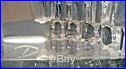 DAUM MARC DE ROSNY ondes brisées -sculpture en cristal-tirage limité 250/400