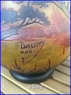 DAUM NANCY 23 CM PAS DE FELE PAS D'ECLAT (legras emile galle)