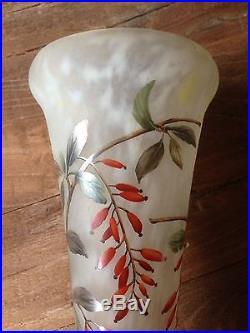 DAUM NANCY Grand Vase Pâte de verre Art Nouveau parfait état