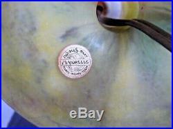 DAUM NANCY-Pied lampe art nouveau travail acide, majorelle, gallé, lalique, muller