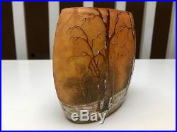 DAUM NANCY Vase Hiver Circa