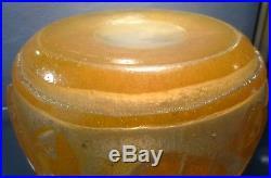 DAUM Nancy Vase art deco 1920-1930 verre bulle double couche-travail acide