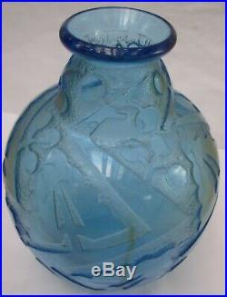 DAUM superbe vase ART DECO signé