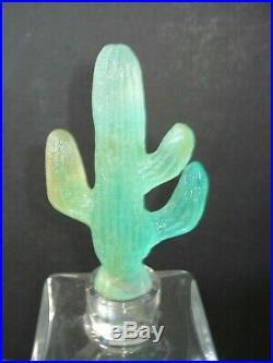 Daum France Magnfique et rare carafe cristal Cactus par Mc Connico