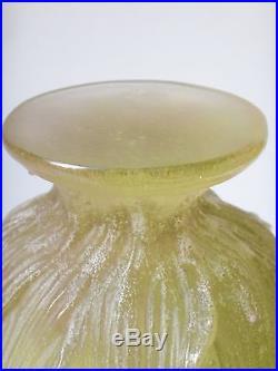 Daum France grande coupe en pâte de verre à décor d'iris de 33cm ref 01633