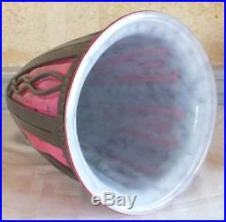 Daum Majorelle vase pate de verre fer forgé