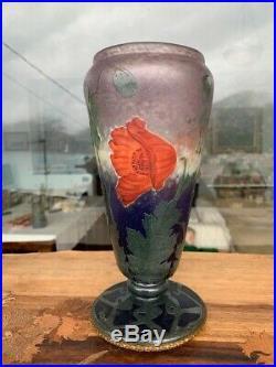 Daum Nancy & Henri Bergé Pavot D'orient Vase 1905