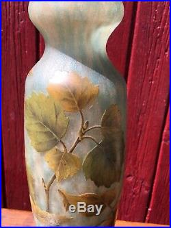 Daum Nancy Vase Baies De Rose 1900/1910 Art Nouveau gallé le verre français