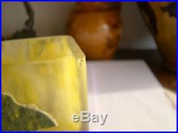Daum Nancy vase à décor fleiri
