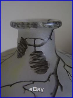 Daum Nancy vase bouteille Art Nouveau Deco Jugendstil 1900