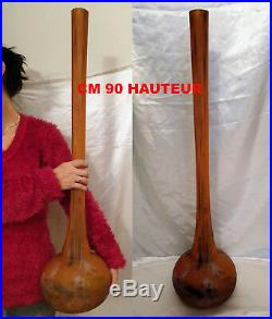 Daum Vase Art Deco Soliflore Berluze Hauteur 90 CM