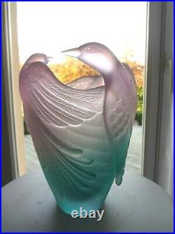Daum Vase Oiseau De Paradis Neuf Dans Son Coffret