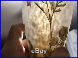 Daum à Nancy Vase à décor de fleurs. 19,8 cm hauteur