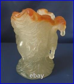 Daum, vase en pâte de cristal, décor Chevaux de Marly