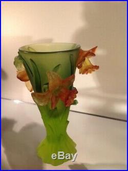 Daum vase jonquilles