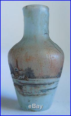 Daum Vase Miniature Decor Village Et Paysage Hivernal