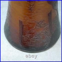 De Vez grand vase ancien Cristallerie de Pantin Devez french cameo glass