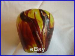 Désiré Christian, Meisenthal. Vase en cristal gravé (Ni Gallé, ni Daum)