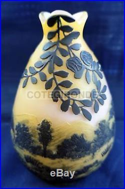 Devez Vase Miniature Decor Paysage Montagne Maison Canards