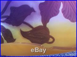 EMILE GALLÉ NANCY Coupe vide-poche de forme foliaire Pâte de Verre ART NOUVEAU