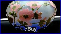 EXCEPTIONNEL, IMPORTANT vase en pâte de verre gravé à l'acide signé Gallé